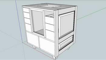 Cabinet de toupie
